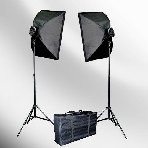 ePhoto Large 12 x 48 Honeycomb Grid Off Camera Strip Softbox Soft Box for Both Both Bowen Strobe or Nikon Canon Portable Flash Mount LBW30120GD