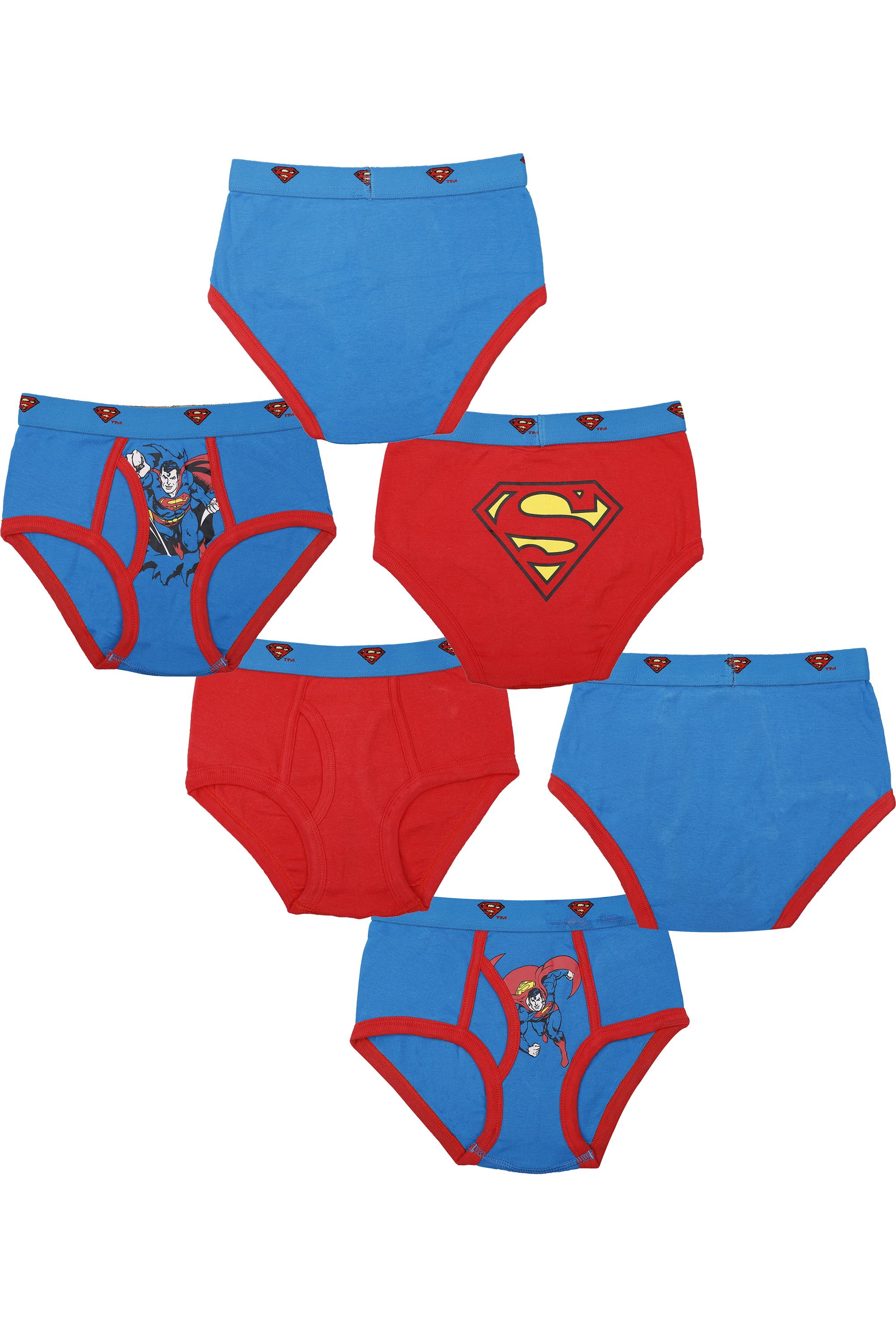 INTIMO Little Boys Superman 3 Pack Brief