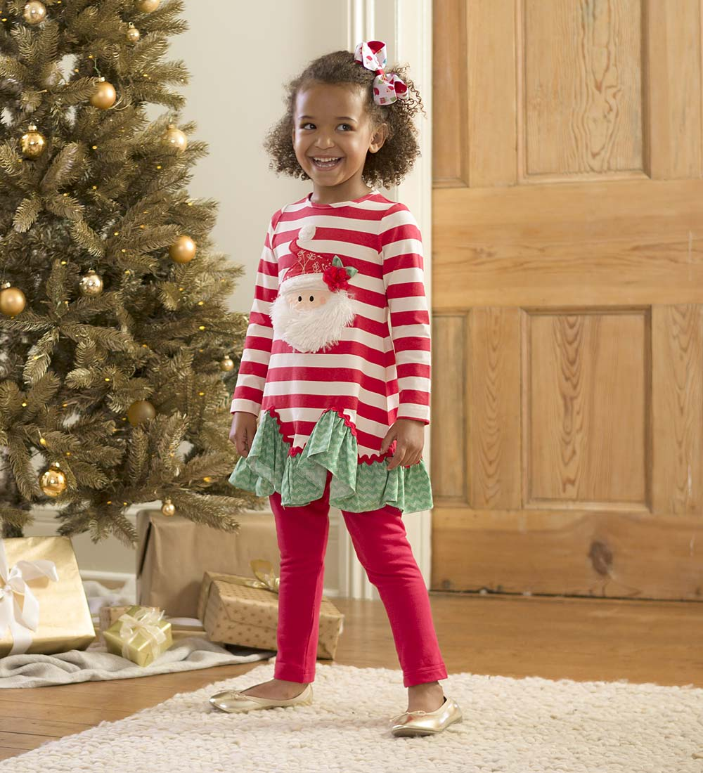 CWDkids Santa Tunic & Leggings Set