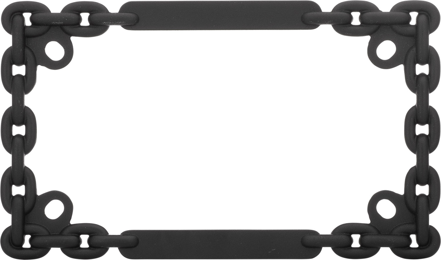 Cruiser Accessories Mc Chain License Plate Frame Matte