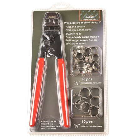 IWISS PEX CINCH Ratchet Crimping Tool Crimper for Stainless Steel Clamps from 3/8
