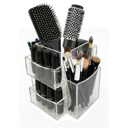 Ondisplay Bianca Rotating Acrylic Cosmetic Makeup Organizer Tray
