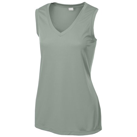 Sport-Tek Women's Competitor V-Neck Sleeveless T-Shirt