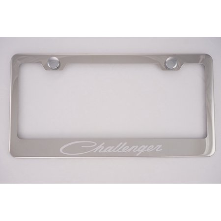 Dodge Challenger Chrome License Plate Frame with Caps, By PCR ...