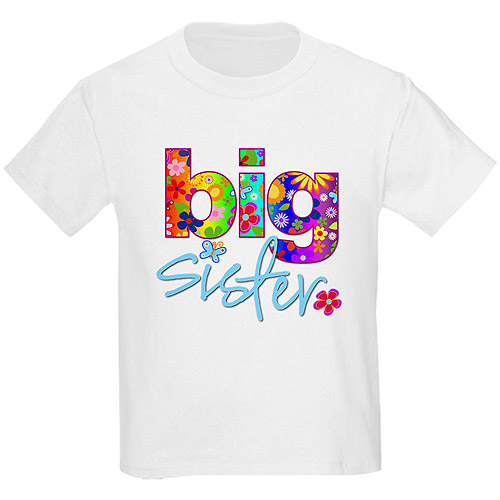 Cafepress Girl's Big Sister Graphic Tee