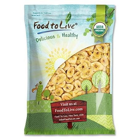 Food to Live® Certified Organic Banana Chips (Non-GMO, Unsulfured, Bulk) (10 Pounds)