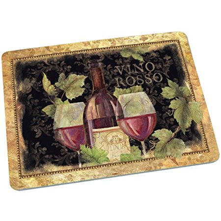 Decorative Glass Cutting Board Gilded Wine, Use to chop slice and dice fruits veggies meat and more. By Lang