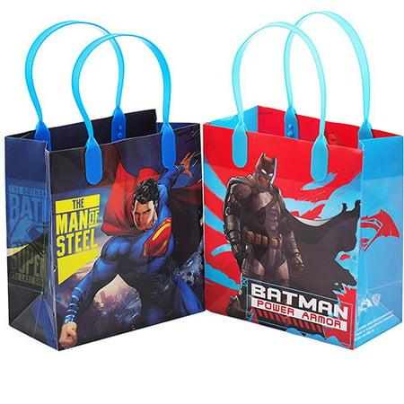 Batman Gift Bag (Batman vs Superman Dawn Justice Authentic Licensed 12 Party Favor Reusable Goodie Small Gift)