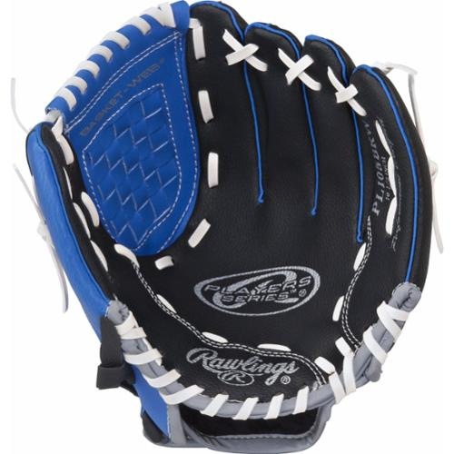 """Rawlings Players Series Gloves, 10.5"""", Right Hand Throw, Blue/Black/Grey"""