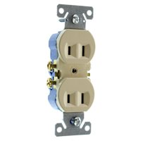 Hubbell RR15NGIZDuplex Recetpacle Outlet, Non-Grounding, 2-Wire, 15-Amp, 120-Volt, Ivory