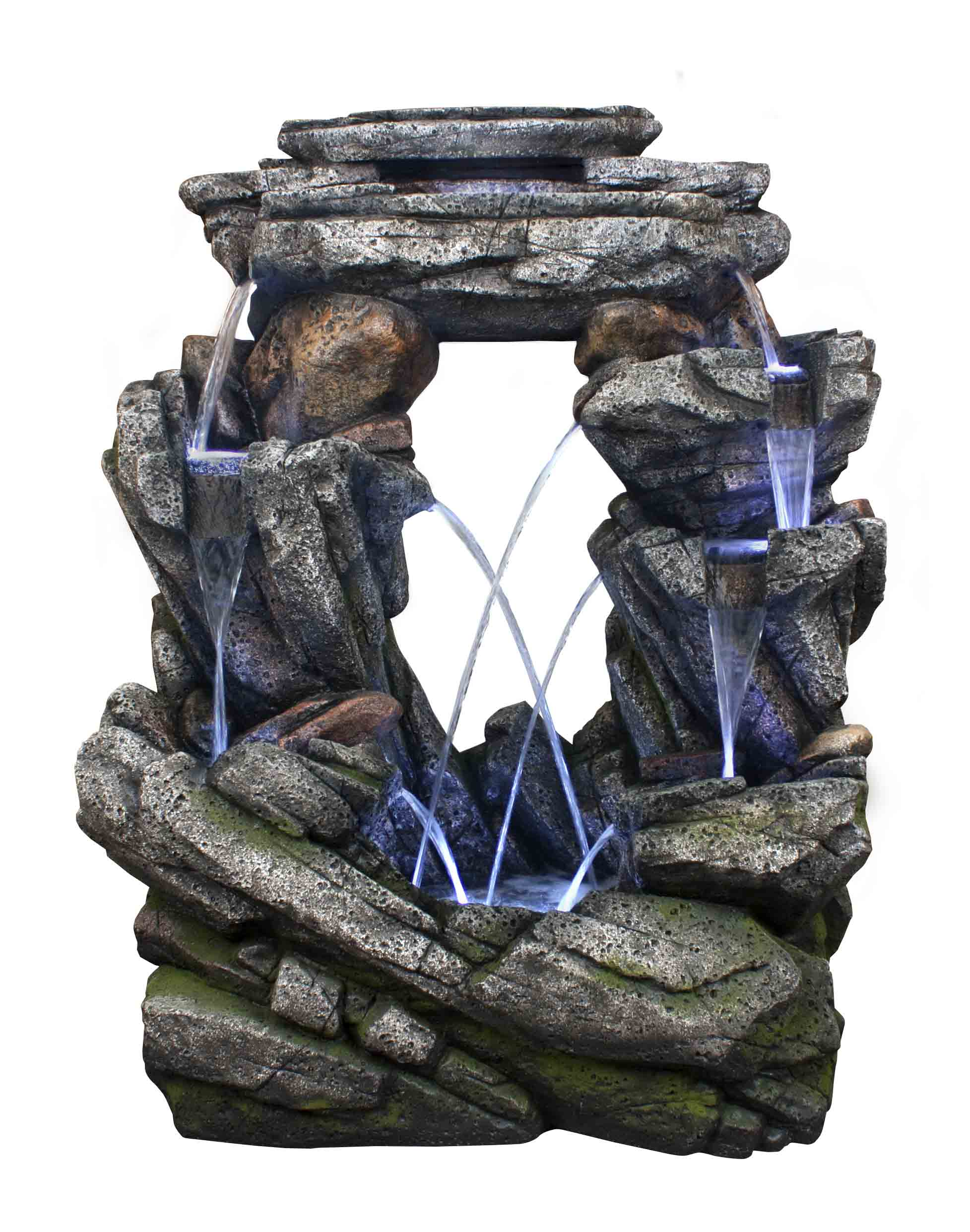 "Alpine Corporation WIN1216 Alpine Open Rock Fountain w LED Light, 52 Inch Tall Floor, 26"" W x 41"" L... by Alpine"