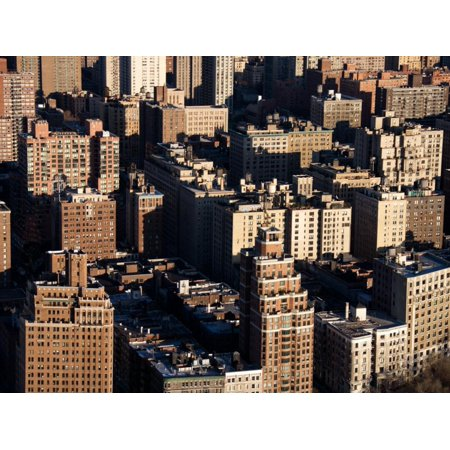 Aerial View of Buildings and High Rises in the Bronx, New York Print Wall Art