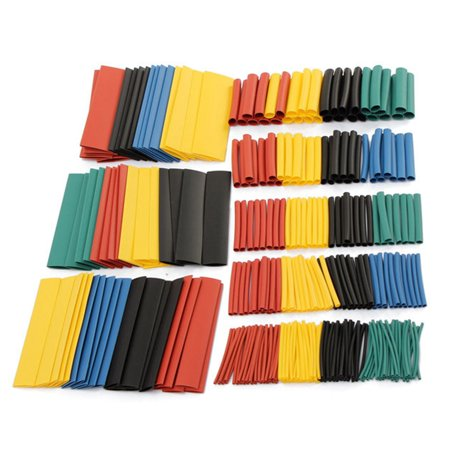 328pcs 8 Size 5 Color Assortment Ratio 2:1 Heat Shrink Tube Sleeve Wrap Wire Assorted Kit Halogen-Free  - image 3 of 5