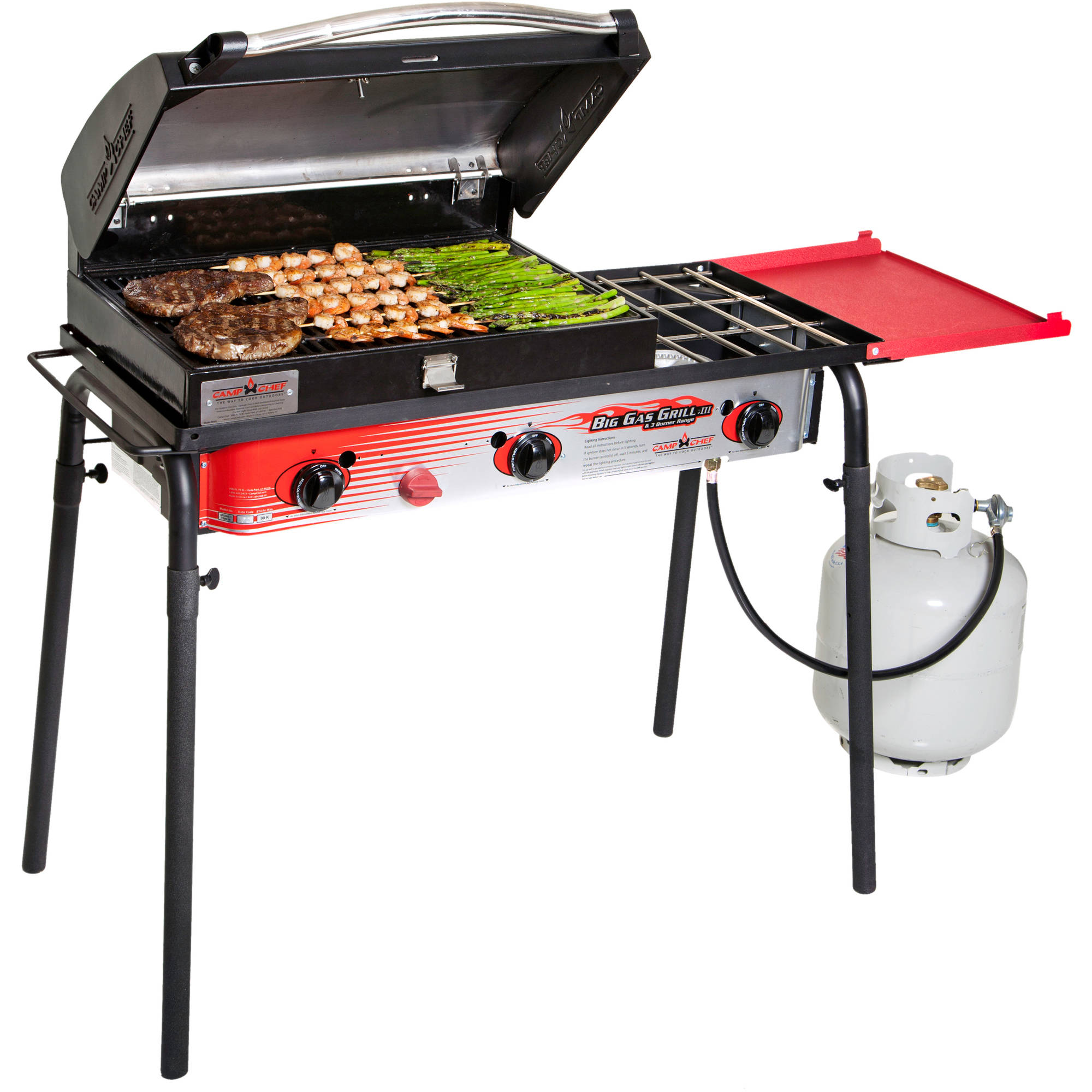 3X Triple Action Burner camp chef big gas grill 3-burner - walmart