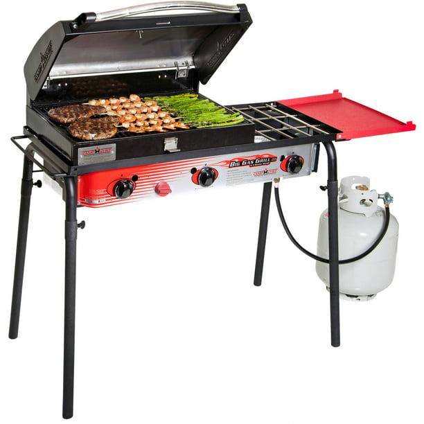 Camp Chef Big Gas Grill 3 Burner Outdoor Stove With Bbq Box Accessory Spg90b Walmart Com Walmart Com
