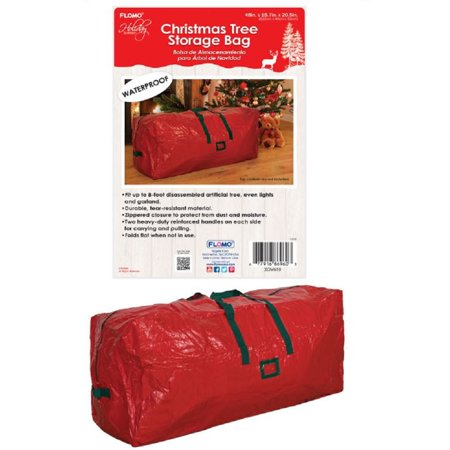 Red Artificial Christmas Tree Waterproof Storage Bag with Handle 48 x 16 x 21in - Online Christmas Stores