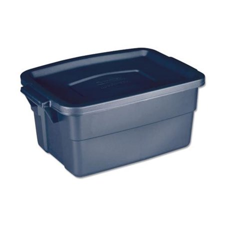 Rubbermaid RMRT030003 Roughneck Storage Box, Dark Indigo Metallic