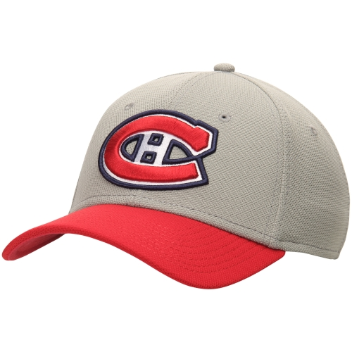 Montreal Canadiens Lombard Stretch Fit Flex Hat - Gray/Red - S/M
