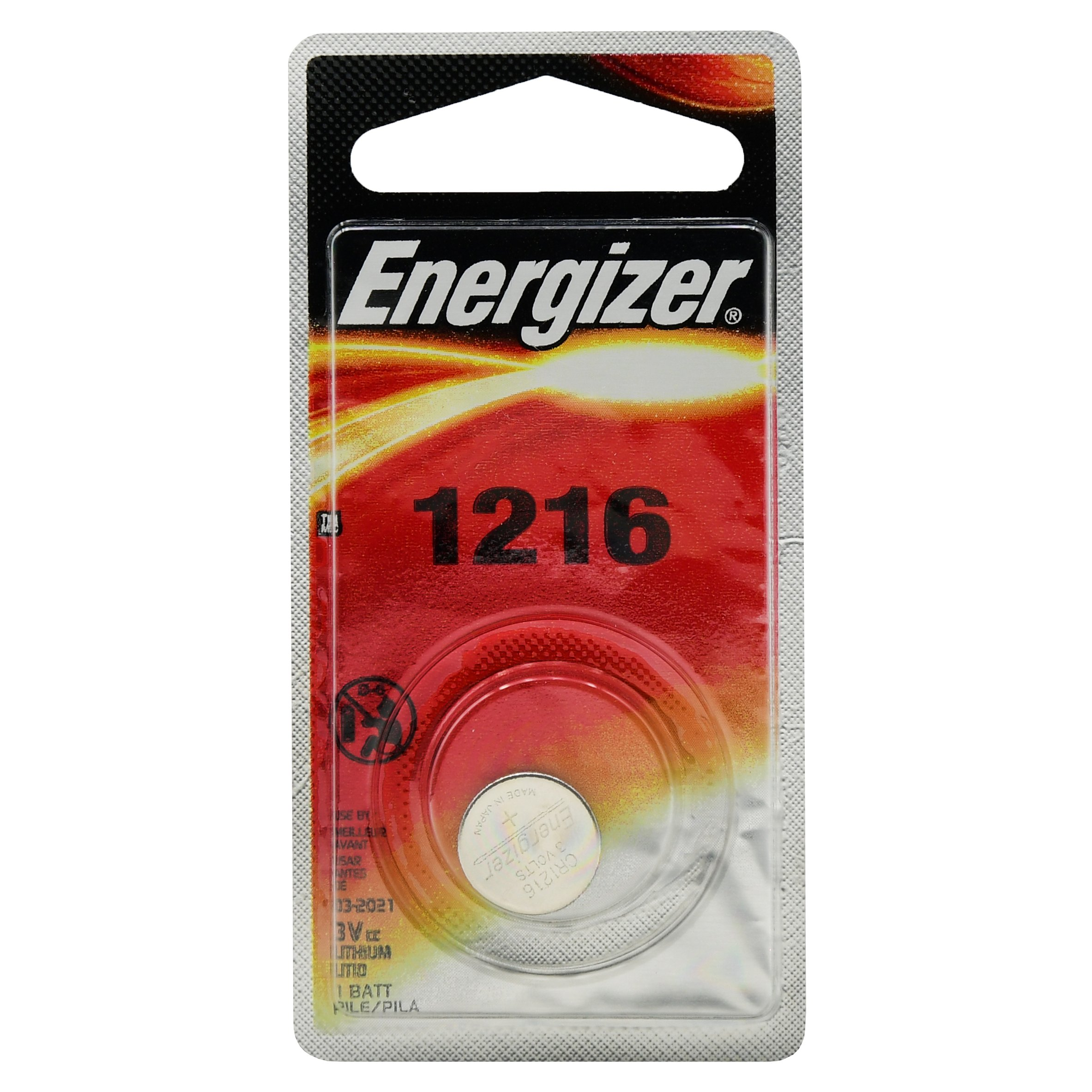 Energizer ECR1216 3V Lithium Button Cell Battery, Pack of 1
