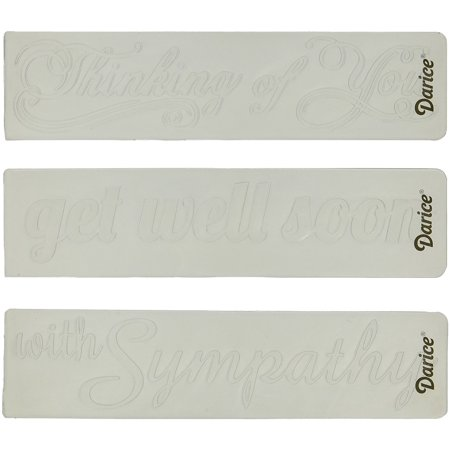 1219-300 Embossing Folder Sentiments Paper Craft Supply (3 Pack), The folders can be used with most embossing machines By - Paper Embossing