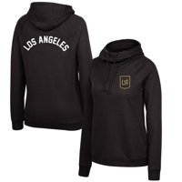 LAFC Mitchell & Ness Women's Funnel Neck Pullover Hoodie - Black