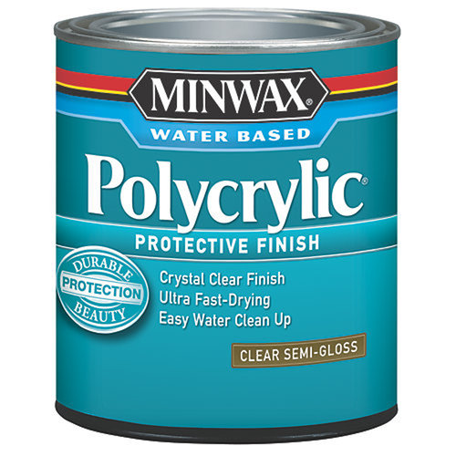 Minwax Polycrylic Protection Finish, Half Pint, Semi-Gloss