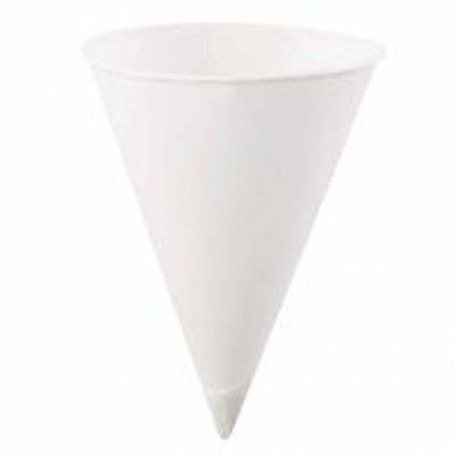 Konie Cups 398-6.0KBR C-Rlld Rim Cone Cup 6 Oz. white 25-200