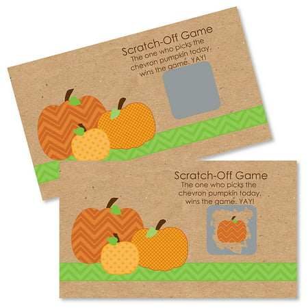 Pumpkin Patch - Fall & Halloween Party Game Scratch Off Cards - 22 Count - Halloween Games For Large Parties