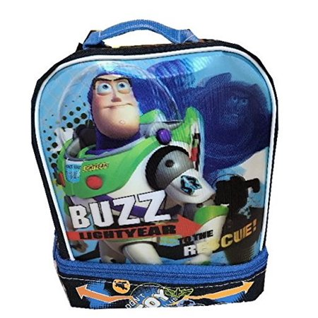 86bc47479c0 disney pixar toy story 3 buzz insulated lunch box dual compartment lunchbox  - Walmart.com