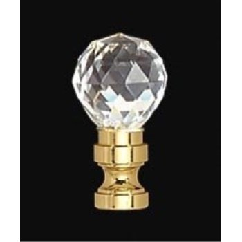 BandP Lamp Crystal And Brass Finial, Tap 1/4-2F