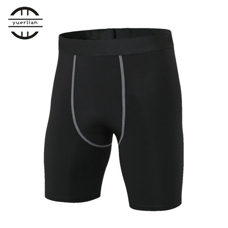 Yuerlian High Elastic Men Tight Compression Shorts Fashionable Quick Drying Sport Bodybuilding Compression Short Pants