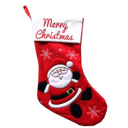Christmas Stocking Sale (Hot Christmas Gift Bag Socks Santa Claus Stocking Christmas Party Candy)