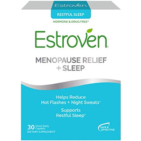 Estroven SLEEP COOL + CALM | Menopause Relief Dietary Supplement | Estrogen Free** | Helps Reduce Hot Flashes & Night Sweats* | 30 Caplets - image 1 of 1