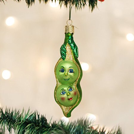 Old World Christmas Two Peas In A Pod Glass Blown