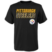 Product Image Youth Black Pittsburgh Steelers Outline T-Shirt fdb141cfc