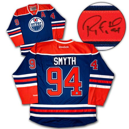AJ Sports World SMYR124002 RYAN SMYTH Edmonton Oilers SIGNED Hockey JERSEY by
