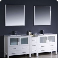 Fresca Torino 84'' Double Modern Bathroom Vanity Set with Mirror