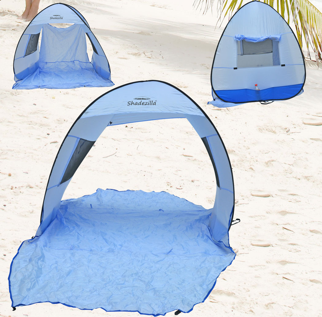 Instant Pop-up Family Beach Tent Cabana and Sun Shelter UPF 55+