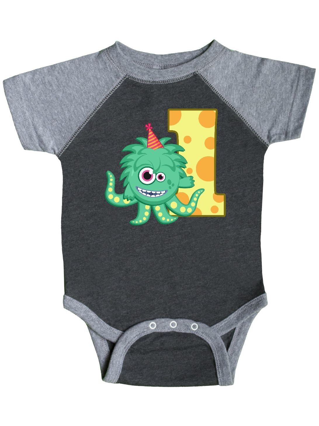 24cabf0ab4b Inktastic - Monster 1st Birthday Infant Creeper - Walmart.com