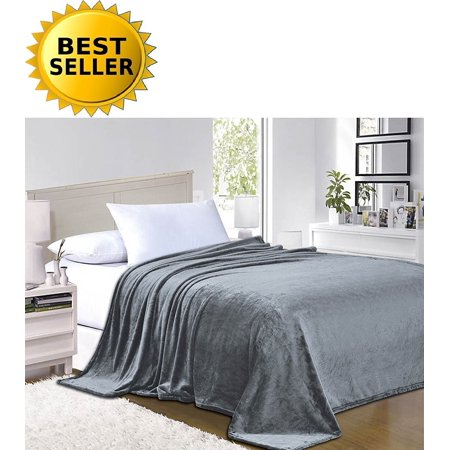 #1 Fleece Blanket on Walmart - Super Silky Soft - SALE - All Season Super Plush Luxury FLEECE BLANKET King/Cal King Gray, #1 LUXURY FLEECE BLANKET ON Walmart -.., By Elegant Comfort