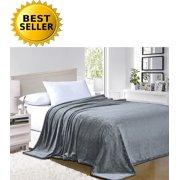 #1 Fleece Blanket on Walmart - Super Silky Soft - SALE - All Season Super Plush Luxury FLEECE BLANKET King/Cal King Gray, #1 LUXURY FLEECE BLANKET ON Walmart -.., By Elegant Comfort