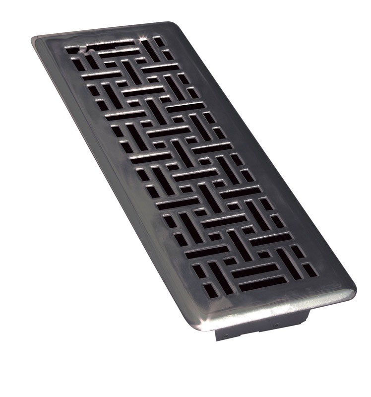 "Ta Industries Modern Contempo Floor Register Modern 4 "" X 12 "" Matte Black"