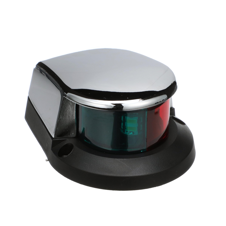 BOW LIGHT BI-COLOR LED LIGHT CHROME PLATED MARINE SEACHOICE 02021
