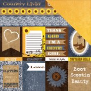 Country Chic Double-Sided Cardstock 12 Inch X 12 Inch-Cutouts