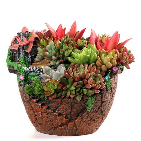 Christmas Succulent Decor.Large Sky Garden Succulent Herb Planter Flower Basket Pot Trough Box Plant Gifts Garden Decor Christmas Gift