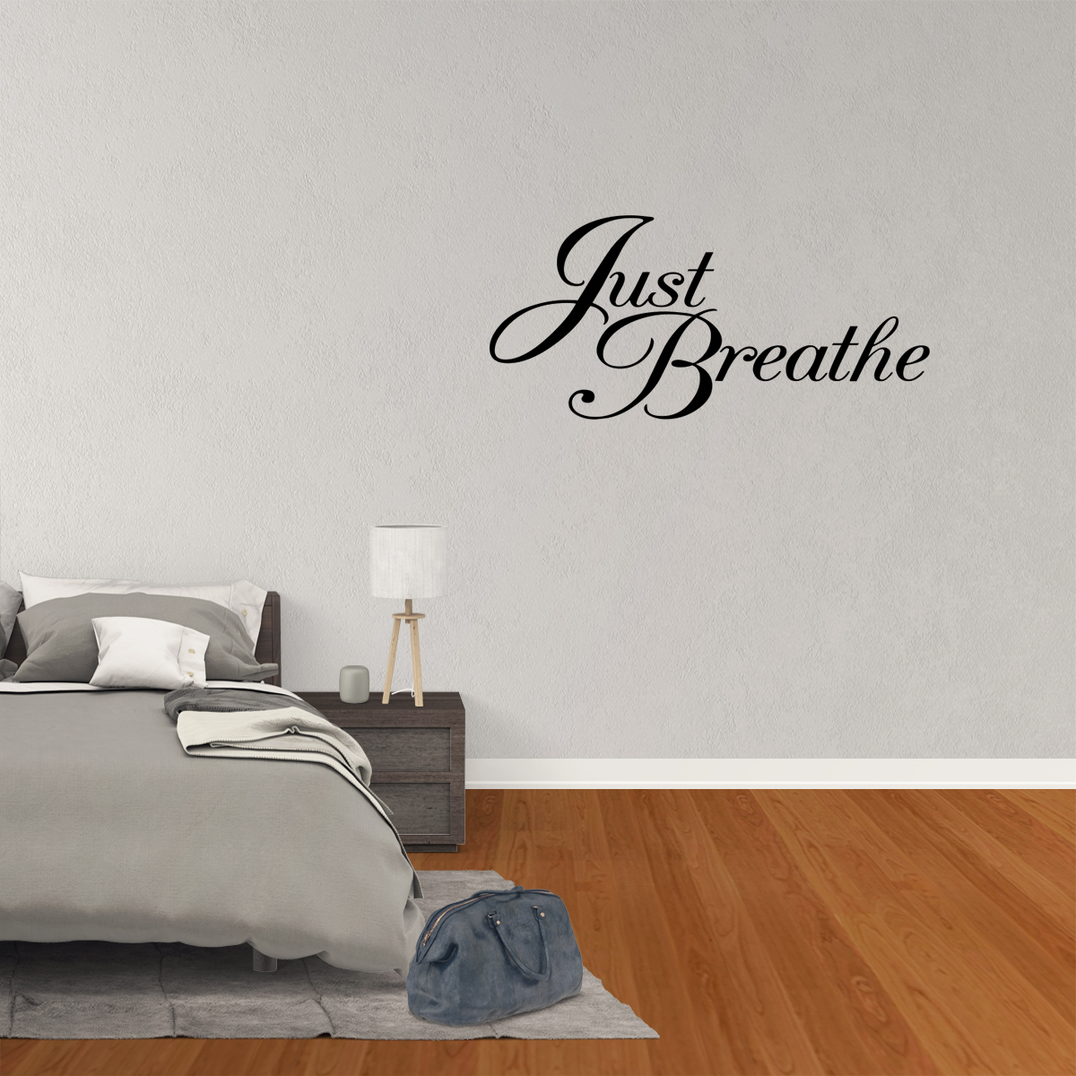 Just Breathe Cute Words Decor Vinyl Wall Decal Quote Sticker Inspiration J607