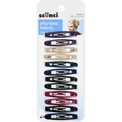 Scunci Effortless Beauty Hair Clips, 12 count