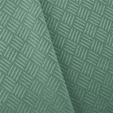 Dusty Turquoise Crosshatch Jacquard Home Decorating Fabric, Fabric ...