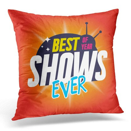USART Cartoon for Tv Shows with Black Label and Inscription Best Ever Reality Pillow Case Pillow Cover 20x20