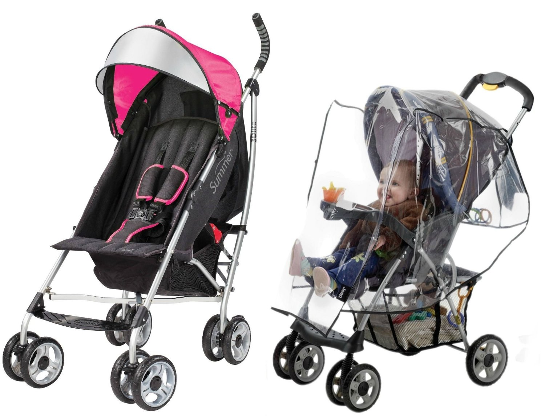 Coche Para Bebe Verano infantil cochecito Lite 3D con clima escudo, color de rosa + Summer en Veo y Compro